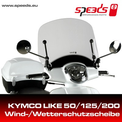 SPEEDS Windschild f. KYMCO LIKE  incl. Haltesatz