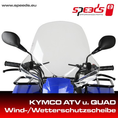 SPEEDS Windschild KYMCO ATV/QUAD incl. Haltesatz
