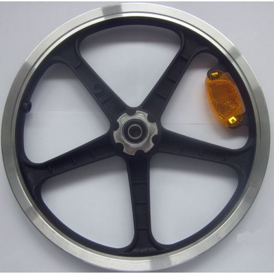 Plastik Hinterradfelge LT schwarz, kpl.m.Lager
