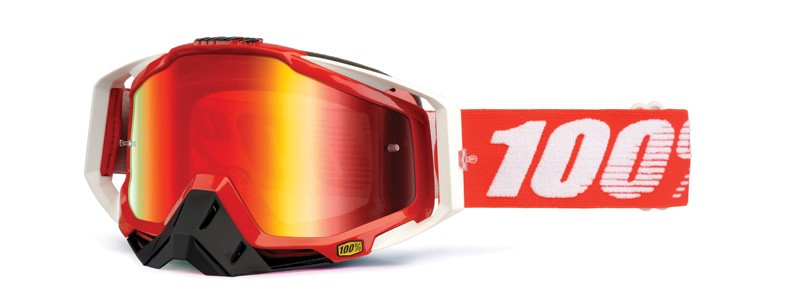 100% Cross Brille Racecraft Extra Fire red