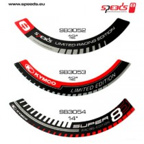 KYMCO Felgenaufkleber Super 8 Racing Edition 14 Zoll